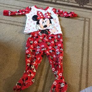 Minnie Mouse footie pajamas